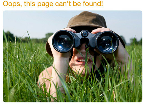 oops, this page cannot be found