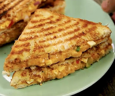 How to make tandoori grilled sandwich