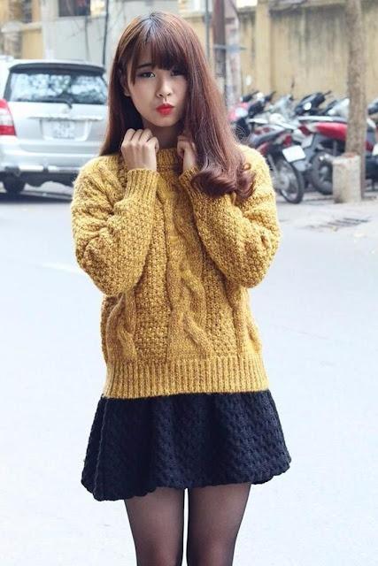 Học cách đan áo len nữ