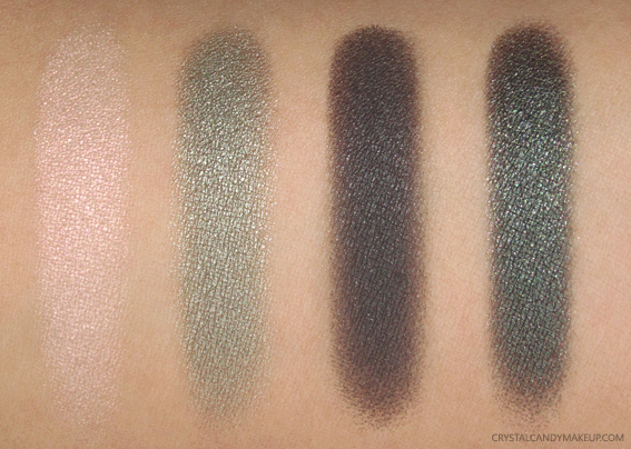 Clarins 4 Colour Eyeshadow Palette 06 Forest Swatches