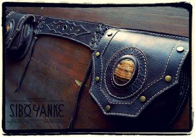 Leather Utility Belt,FannyPack, FestivalBelt, Boho Belt, Gypsy Belt, Utility Belt