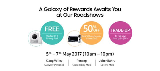 Samsung Galaxy 8 Plus Roadshows Free Gift Rewards