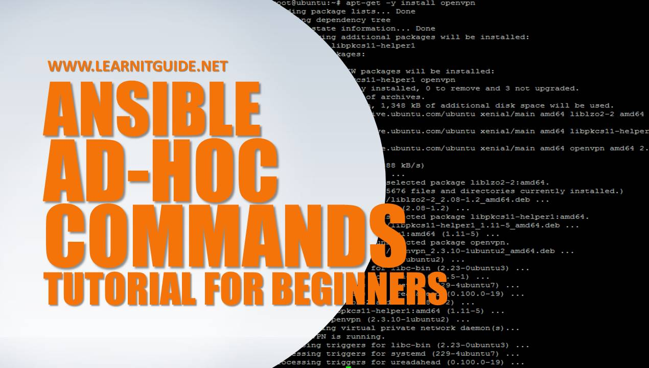 Ansible Ad hoc Commands - Ansible Tutorial for Beginners