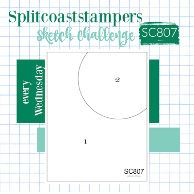 Splitcoaststampers Card Sketch 807 challenges
