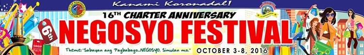 Koronadal's 16th Anniversary & 6th Negosyo Festival Scheduleof Activities