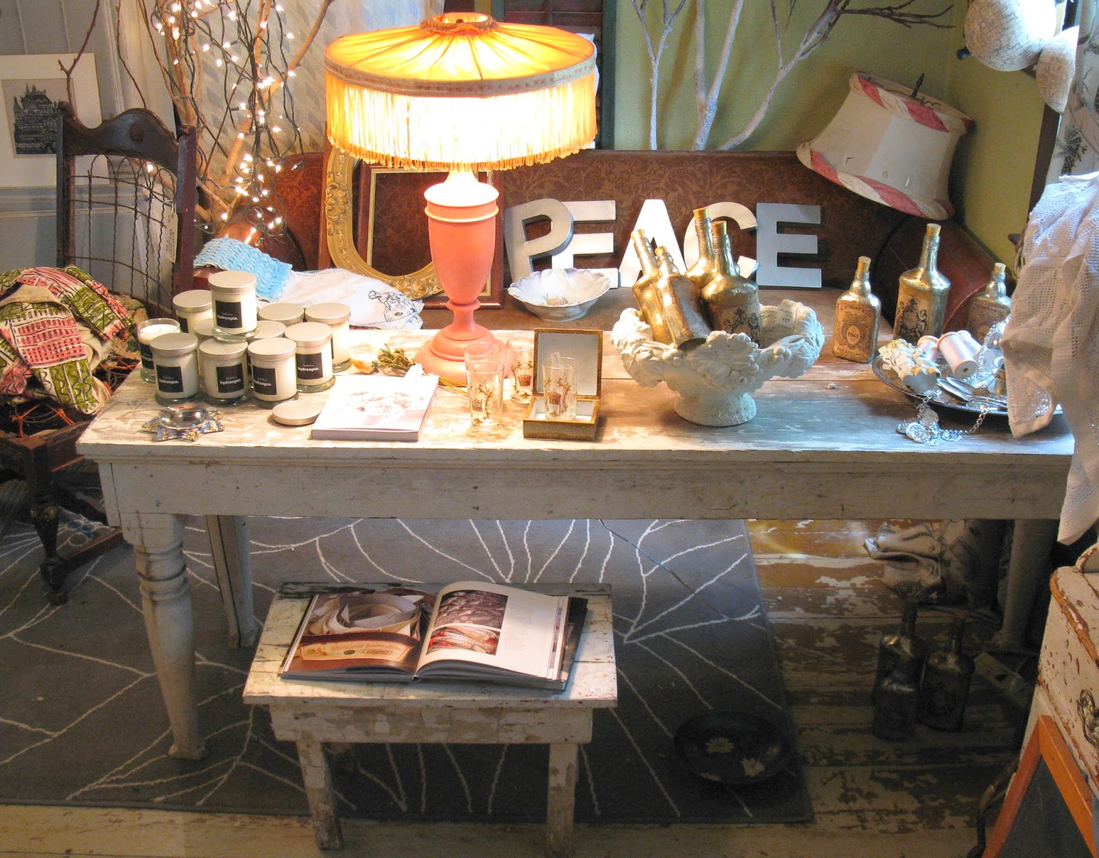 White Harvest Table Sisters Garden What A Festival Of Lovely Things