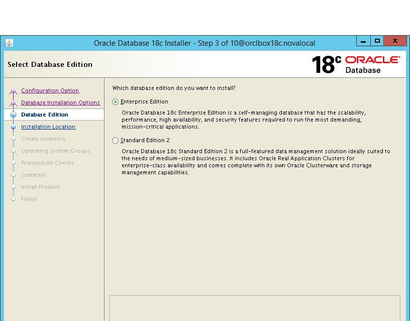 Oracle Database - 18c: On Premise Installation - Oracle Linux - Part