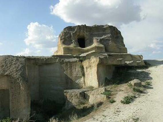 Antigua ciudad rocosa de Capadocia en Turquía