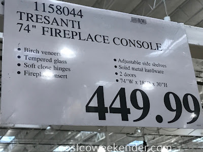 Deal for the Tresanti 74in Fireplace Console at Costco
