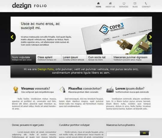 Converting Dezign Folio From PSD to HTML