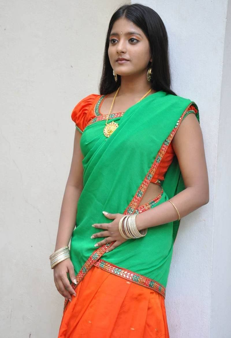 Ulka Gupta Photos In Traditional Green Half Saree