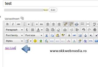 Editare sau adaugare link wordpress - OkkWebMedia