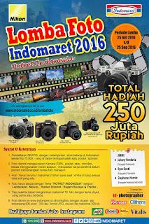 Lomba Foto Indomaret 2016 Potret Indonesia Berhadiah Puluhan Juta Rupiah (DL September 2016)