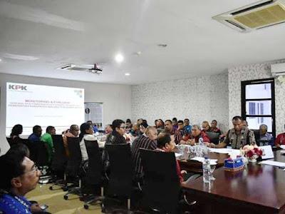Komisi Pemberantasan Korupsi Monitoring dan Evaluasi SKPD di MTB