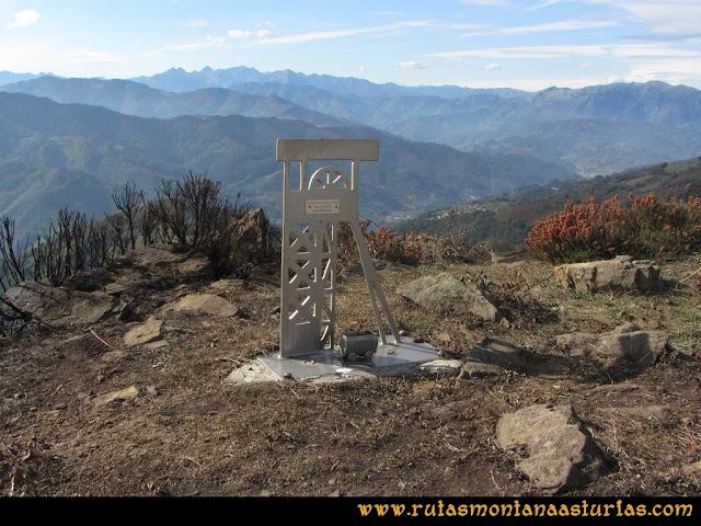 Ruta al San Justo o Cogollu: Buzón con castillete en el pico San Justo
