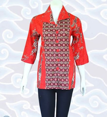 Contoh Model Baju Batik Atasan modern