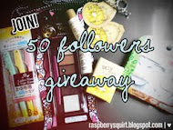 Belle De Jour: My 50 followers Mini Giveaway :)