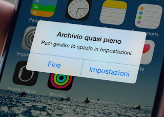 recuperare spazio iphone