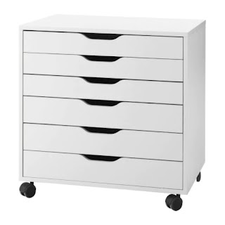 IKEA Alex Drawers on Castors