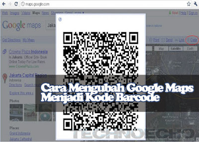 cara membuat barcode lokasi google maps