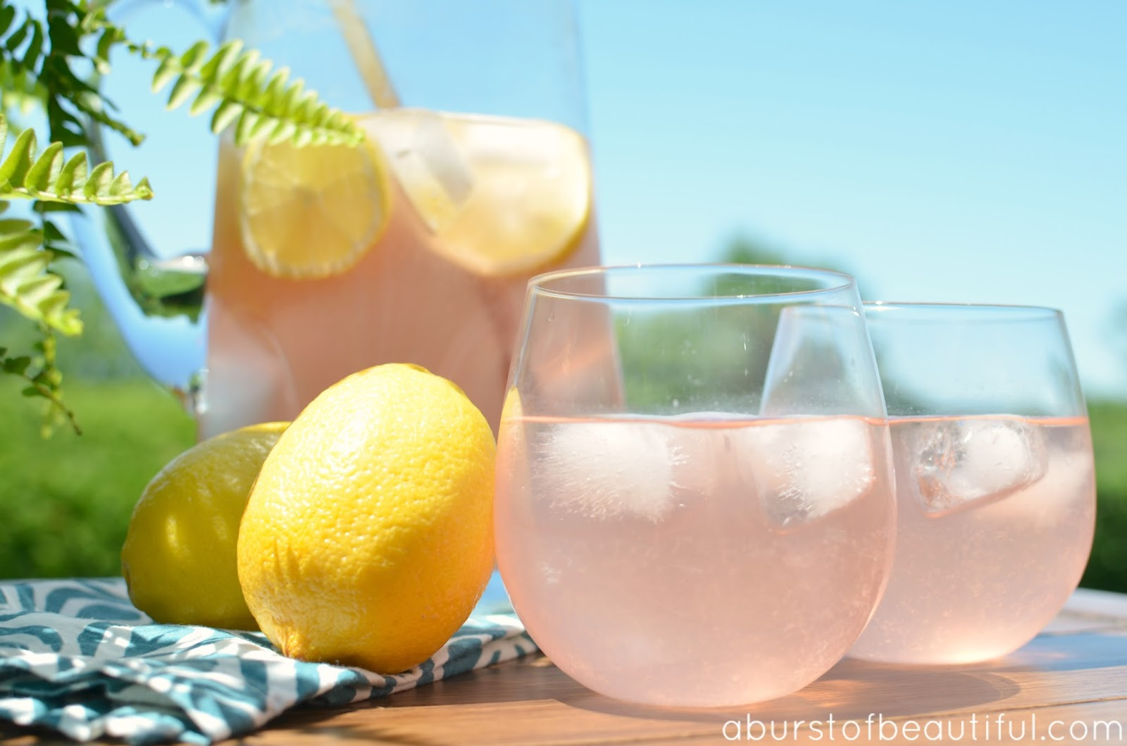 Sparkling Pink Lemonade - A Burst of Beautiful
