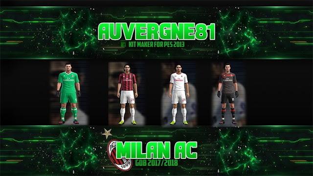 AC Milan Kit 2017-18 PES 2013