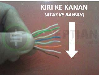 urutkan kabel utp