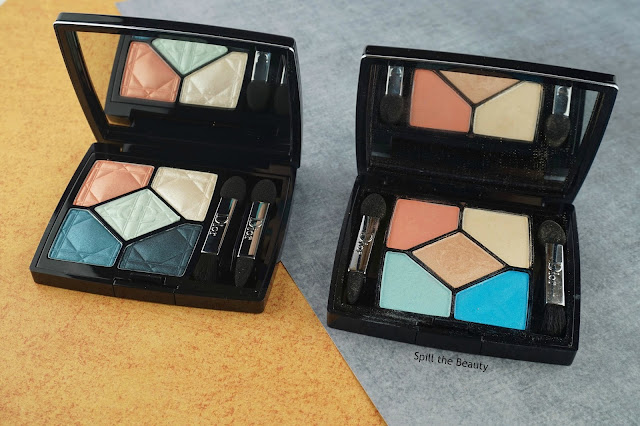 dior 5 couleurs eyeshadow palette electrify 357 review swatches look comparison mily dots palette