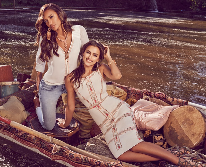 Bebe July 2015 Lookbook featuring Irina Shayk and Gracie Carvalho