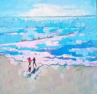 Mary Kemp Lovers on the Beach