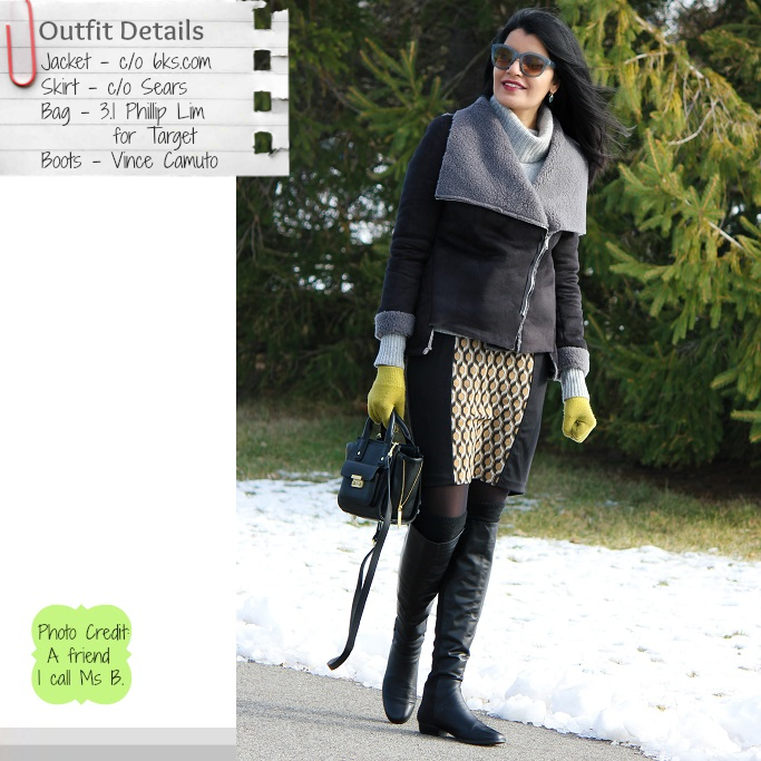 ed5a115f240 Style-Delights  Lookbook  Bundle Up With Shearling Jacket And OTK Boots