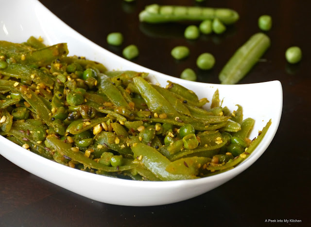 Sauteed Sugar Snap Peas (South Indian Style) ~ Day 102