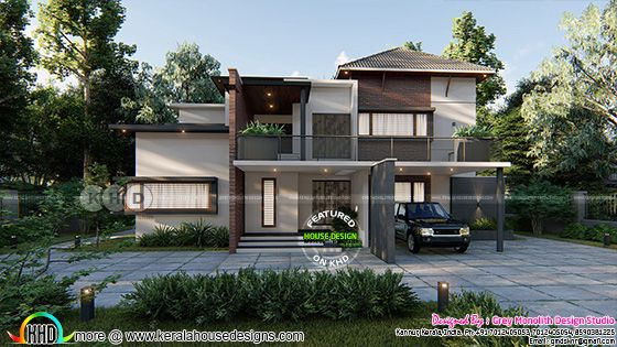 Front elevation of beautiful modern home