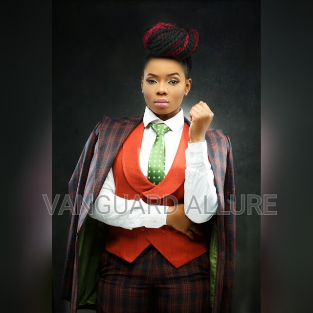 Nigeria musician Yemi Alade is king on the front of Vanguard Allure (Photos)