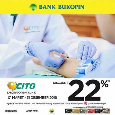 Diskon 22% Lab Klinik Cito – Bank Bukopin