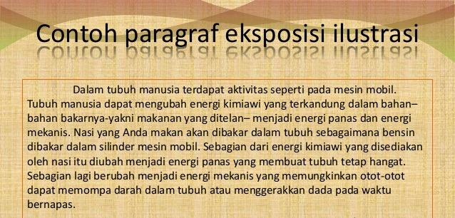 Contoh Contoh Paragraf Eksposisi Examples Of Exposition