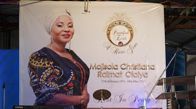 11 - Going on right now at LTV Blue roof in Ikeja is the memorial tribute even in honour of late Nollywood actress, Moji Olaiya.