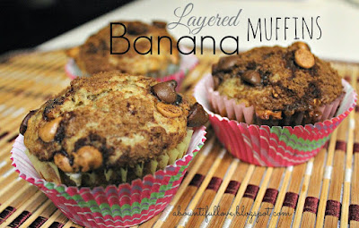 Layered Banana Muffins