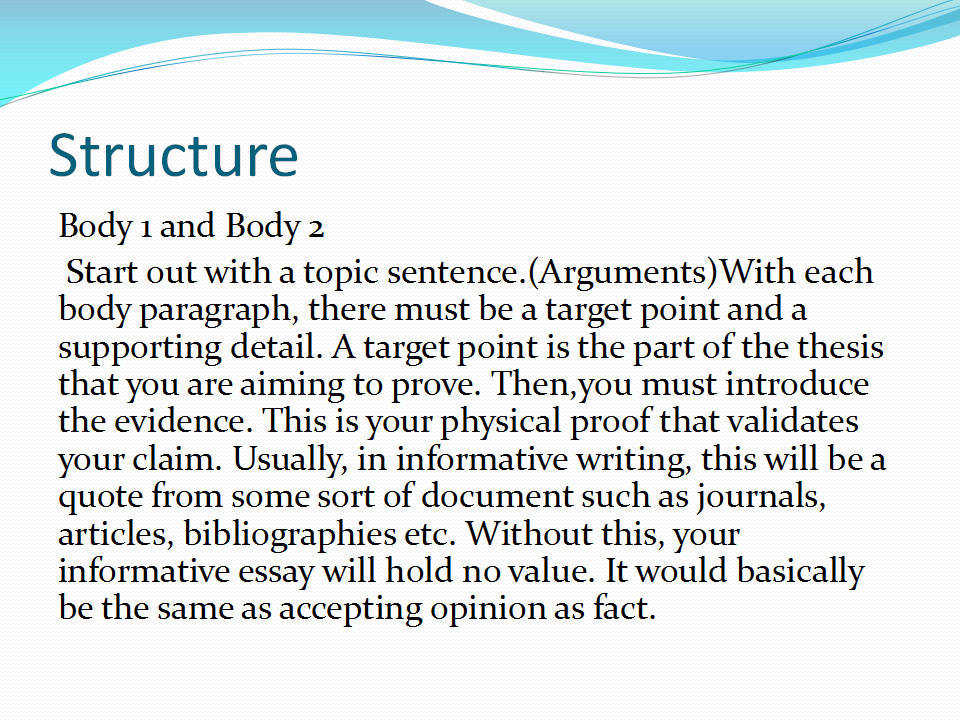 informative essay definition The purpose of an informative essay, sometimes called an expository essay, is to educate others on a certain topic typically, these essays will answer one of the.