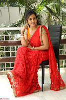 Lasya Cute Beauty in Saree Backless Choli at her Interview ~  Exclusive 026.JPG