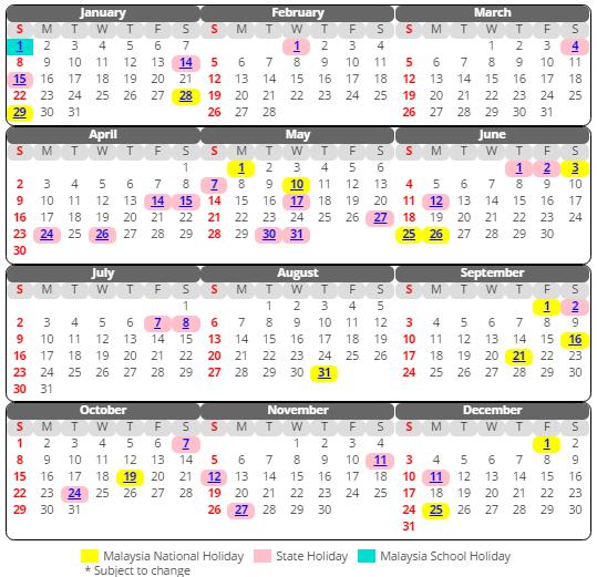 Kalendar 2017 Malaysia Versi Terbaik Cuti-cuti Sekolah & Cuti Am 2017