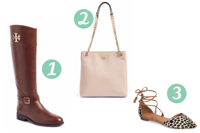 5cdb454ec 1) Tory Burch Adeline Boot – I am obsessed with this color! This is Almond  but they also come in black, but I think Almond is such a great fall shade.