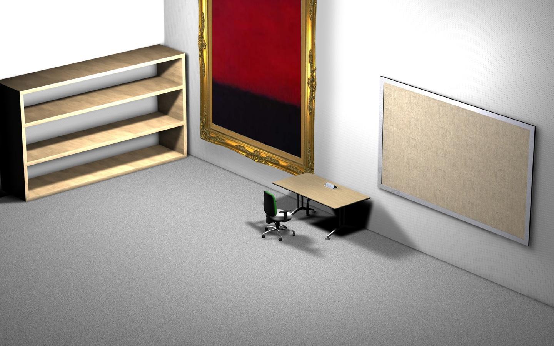 Classic 3d Desktop Workplace Wallpaper Office Desktop Wallpaper See To World