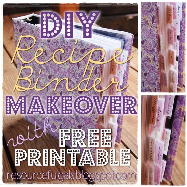 The Resourceful Gals: DIY Recipe Binder Makeover