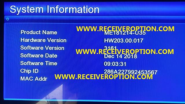 GX6605S HARDWARE VERSION HW203.00.017 POWERVU KEY NEW SOFTWARE