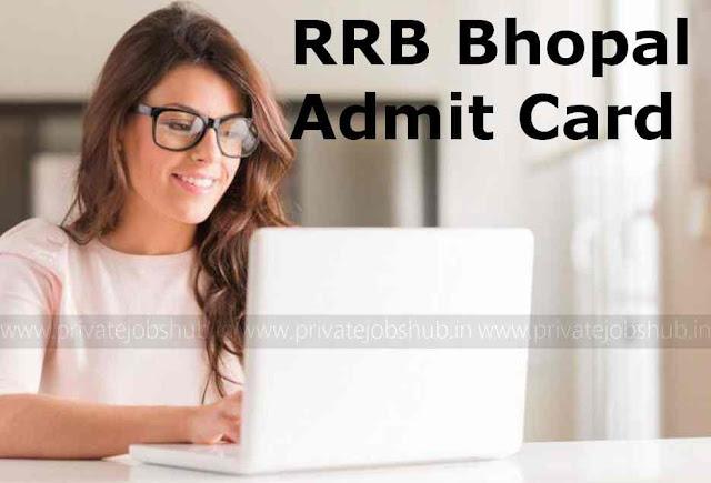 RRB Bhopal Admit Card