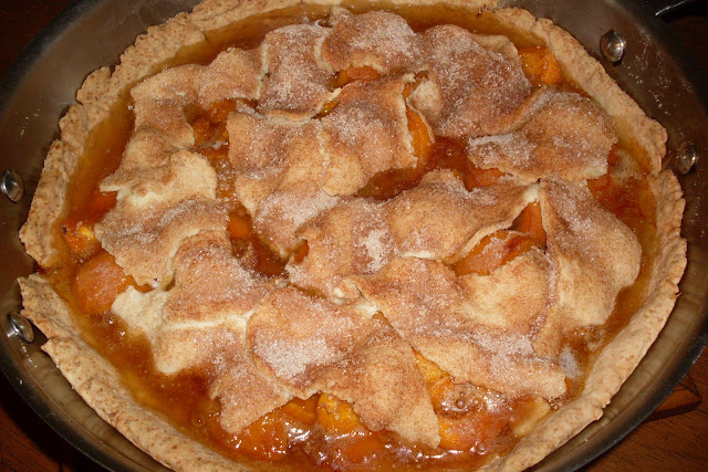 Wordless Wednesday. Recipe for Fresh Apricot Pie