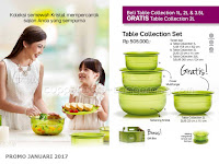 Table Collection Set Promo Tupperware Januari 2017