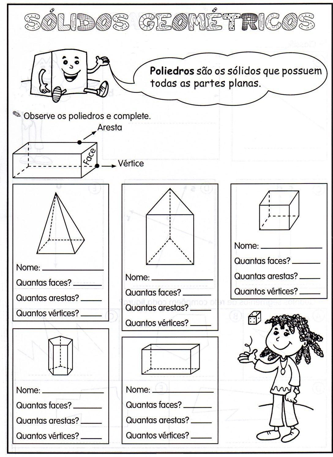Amiga Da Educacao Atividades E Moldes Com Solidos Geometricos
