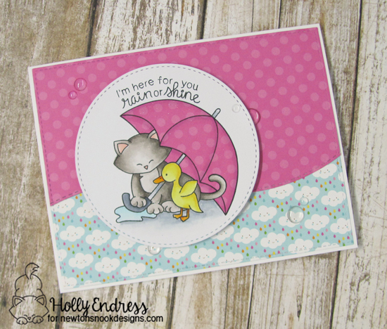 Rain or Shine Card by Holly Endress | Newton's Rainy Day Stamp set by Newton's Nook Designs #newtonsnook